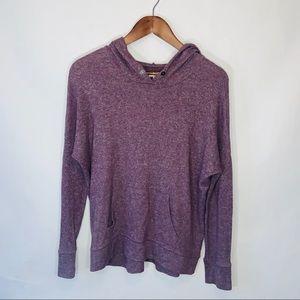 American Eagle purple hooded sweater